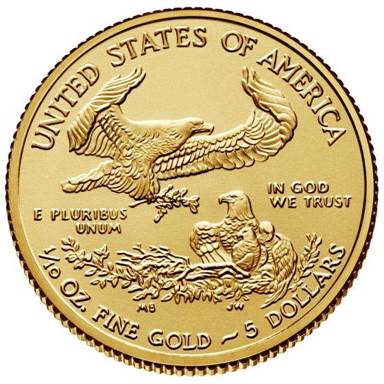 2020 American Gold Eagle Coin 1 10 Oz
