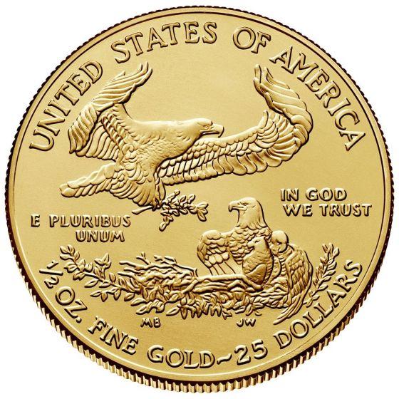 2020 American Gold Eagle Coins 1 2 Oz