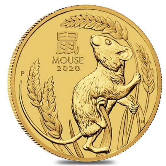 2020 Silver 2 oz Australia Perth Lunar Mouse