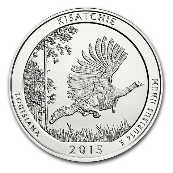 In Capsule 2015 5 oz  Silver Kisatchie National Forest Coin Bullion