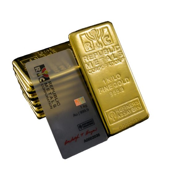 Republic Metals 1 Kilo Gold Bar
