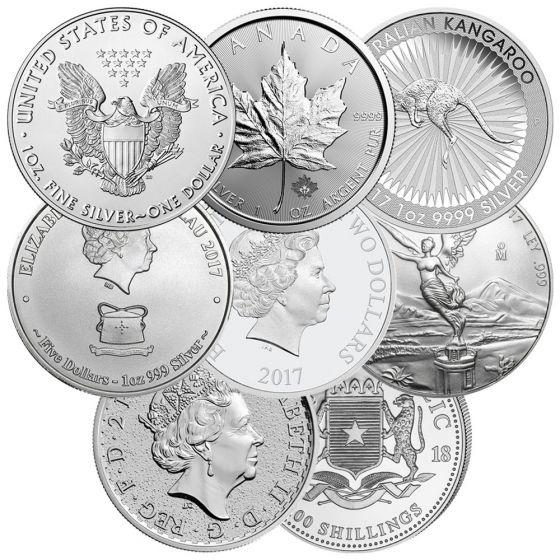 1 Oz Silver Coins Random Designs