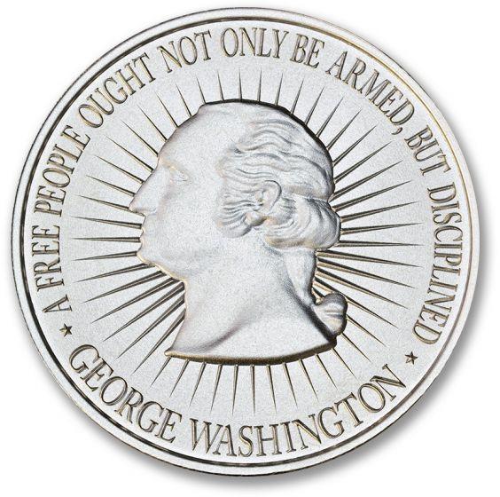 One Gram Pure .999 Fine Silver George Washington Round