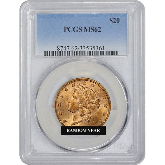 U.S $20 Liberty Double Eagle PCGS MS 62 ** Random Dates Gold