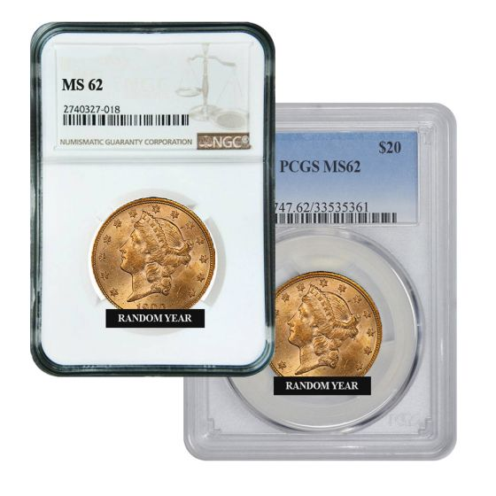 U.S Gold $20 Liberty Double Eagle PCGS MS 62 ** Random Dates