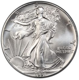 1991 Sunshine Mining American Eagle 1//2 Troy Oz .999 Fine Silver Round Coin Half