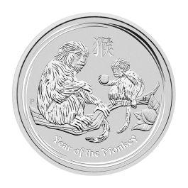 2016 lunar animal monkey fan shape 1oz silver coin S10Y with COA box