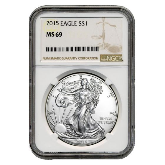 2010 1oz Silver Eagle NGC MS69 Brown Label