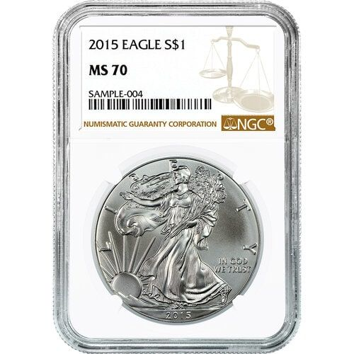 W $1 SILVER EAGLE ✪ ANACS MS-70 ✪ FIRST RELEASE UNCIRCULATED ◢TRUSTED◣ 2015-