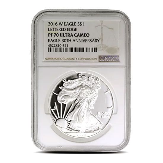 2020 W Proof American Silver Eagle 1 OZ PF-70 NGC Brown Label