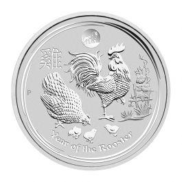2017 1 oz Silver Lunar Rooster Coin Lion Privy Perth Mint BU Australia