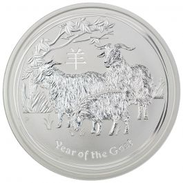 1oz Silver Brilliant Unc Coin 2015 Australian Lunar Series II YEAR OF THE GOAT