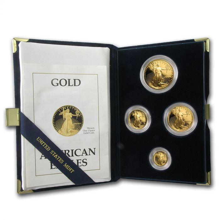 1990 American Gold Eagle Proof Set - Includes Original Mint Box and COA