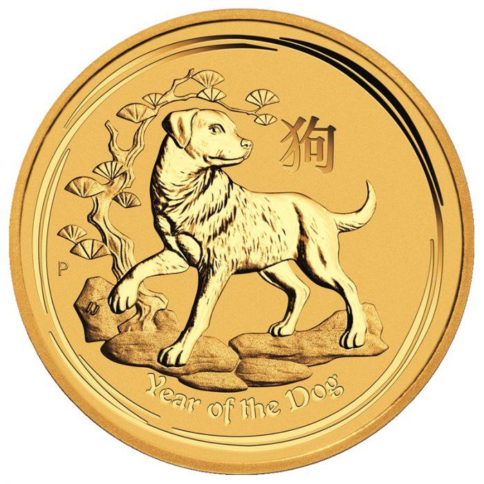2018 Australian Lunar Year of the Dog Gold Coin 1/2 oz