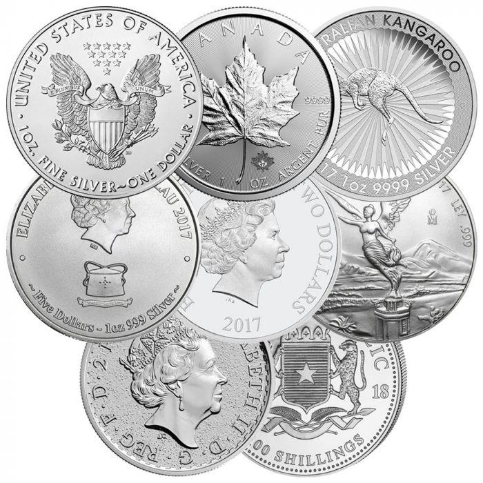 1 Oz Silver Coins Random Design