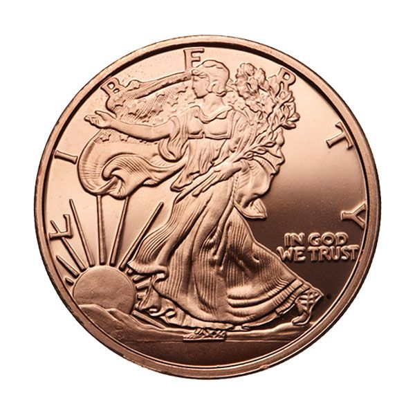 1oz Copper Coin/ Round Coins & Paper Money Standing Liberty Design A Great Variety Of Goods Other Bullion