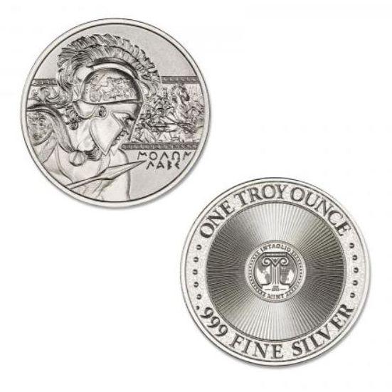 9004d473be0d 1 oz Intaglio Molon Labe Silver Round