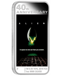 2019 1 oz Alien Poster Silver Coin - 40th Anniversary