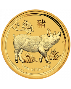 2019 Perth Mint Lunar Year of the Pig Gold Coin 1/2 oz