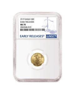2019 1/10 oz NGC MS-70 Early Releases Gold American Eagle