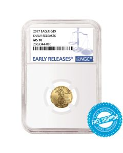 2017 1/10 oz NGC MS-70 Early Releases Gold American Eagle