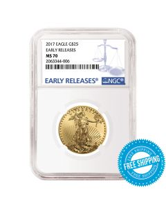 2017 1/2 oz NGC MS-70 Early Releases Gold American Eagle