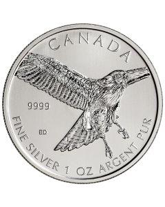 2015 1 oz Silver Red-Tailed Hawk - RCM Birds of Prey Series