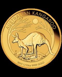 2019 Australian Kangaroo Gold Coin 1/10 oz