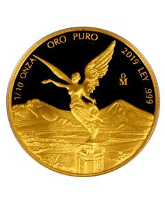 2019 1/10 oz Mexican Gold Libertad Proof Coin