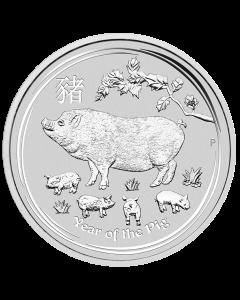 2019 Australian Lunar Year of the Pig Silver Coin 1 oz