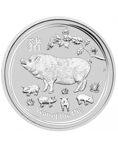 2019 Australian Lunar Year of the Pig Silver Coin 5 oz