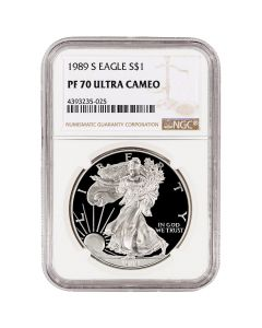 1989-S NGC PF-70 Proof American Silver Eagle Coin