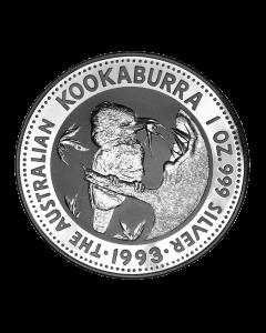 1993 1 oz Australian Kookaburra Silver Coin