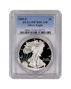 1995-P PCGS PR-70 American Silver Eagle Proof Coin