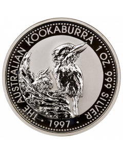 1997 1 oz Australian Kookaburra Silver Coin