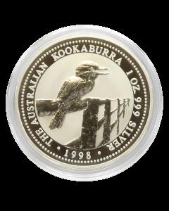 1998 1 oz Australian Kookaburra Silver Coin