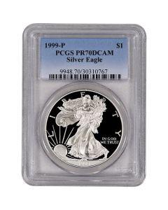1999-P PCGS PR-70 American Silver Eagle Proof Coin