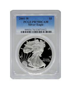 2001-W PCGS PR-70 American Silver Eagle Proof Coin
