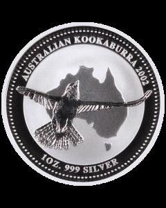 2002 1 oz Australian Kookaburra Silver Coin