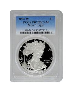 2002-W PCGS PR-70 American Silver Eagle Proof Coin