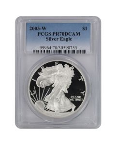 2003-W PCGS PR-70 American Silver Eagle Proof Coin