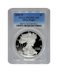2005-W PCGS PR-70 American Silver Eagle Proof Coin