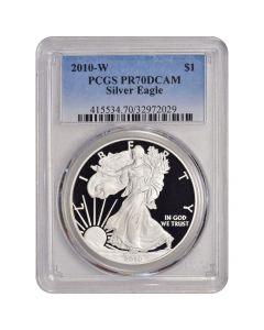 2010-W PCGS PR-70 American Silver Eagle Proof Coin