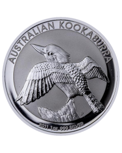2011 1 oz Australian Kookaburra Silver Coin
