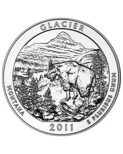 2011 Silver 5 oz Glacier America The Beautiful