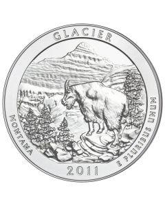 2011 Glacier 5 oz Burnished Silver Coin - America The Beautiful