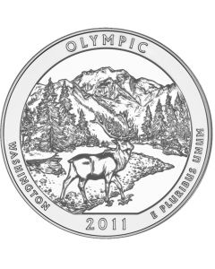 2011 Olympic 5 oz Burnished Silver Coin - America The Beautiful