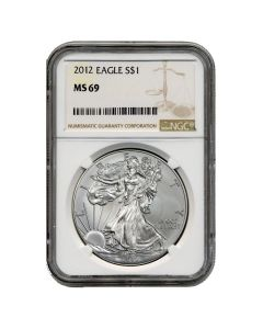2012 NGC MS-69 American Silver Eagle Coin (Brown Label)