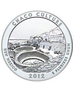 2012 Silver 5 oz Chaco Culture America The Beautiful