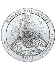2012 Silver 5 oz Hawai'i Volcanoes America The Beautiful